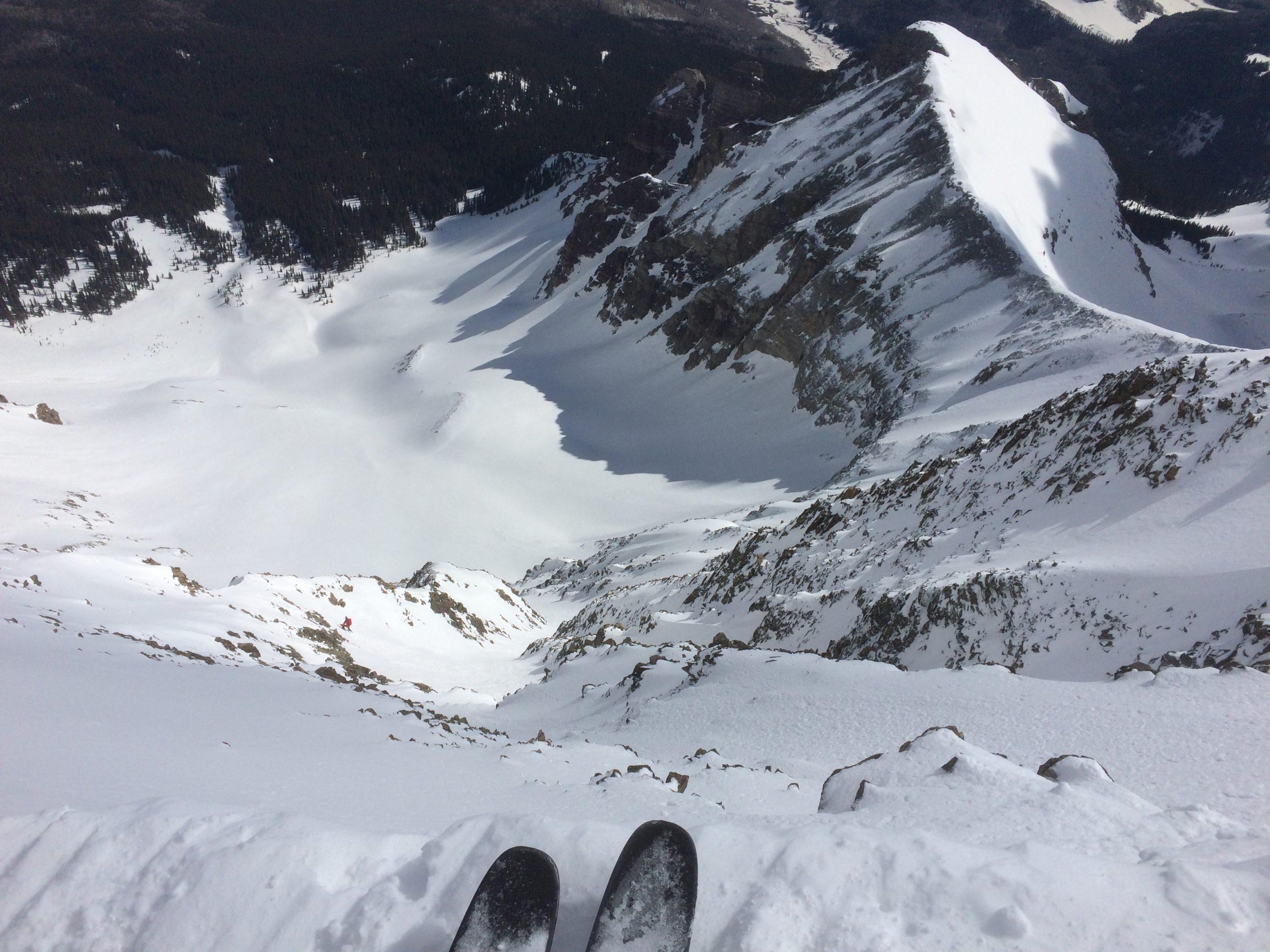 Skiing Wilson Peak Coors Face