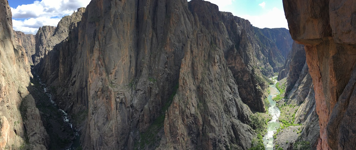climbing in the black canyon with a San Juan Expeditions Guide
