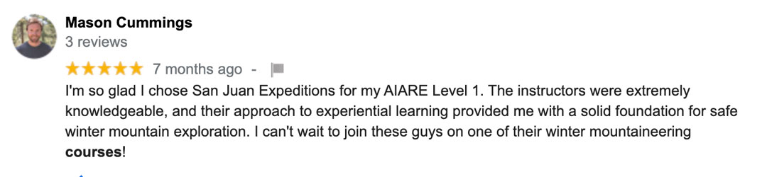 San Juan Expedtions AIARE level 1 course review